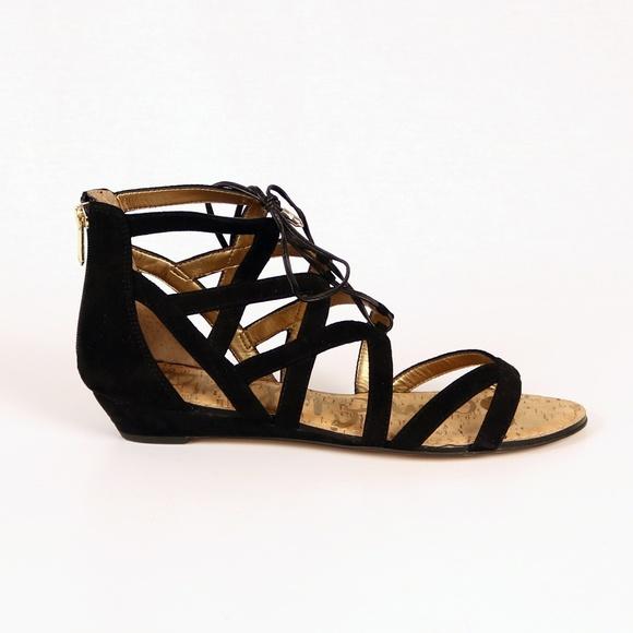 0c398d2eb EUC Sam Edelman Dawson black wedge sandal size 12.  M 5bde745d6a0bb759b784efe2